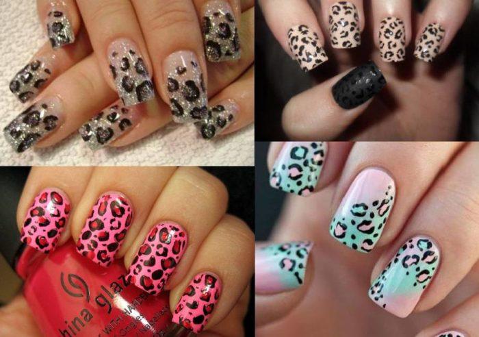 леопардовый принт на ногтях, фото идеи 1
