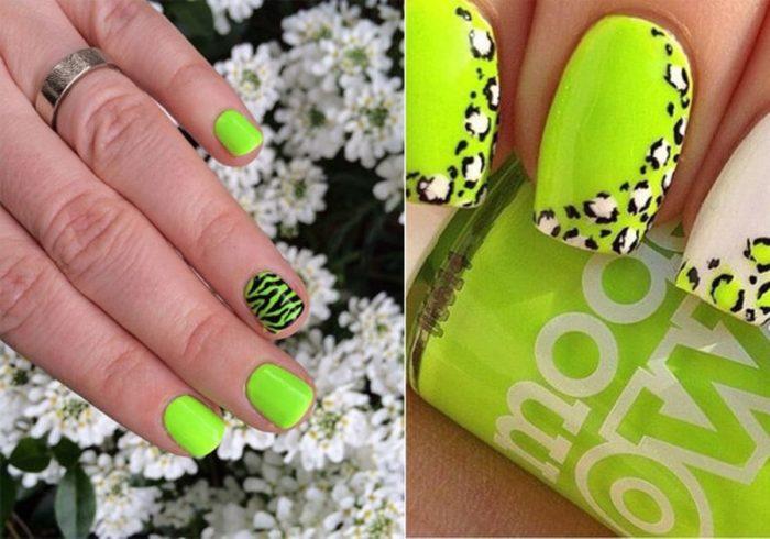 леопардовый принт на ногтях, фото идеи 2