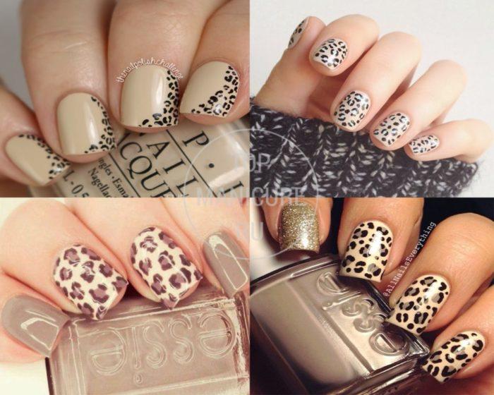 леопардовый принт на ногтях, фото идеи 4