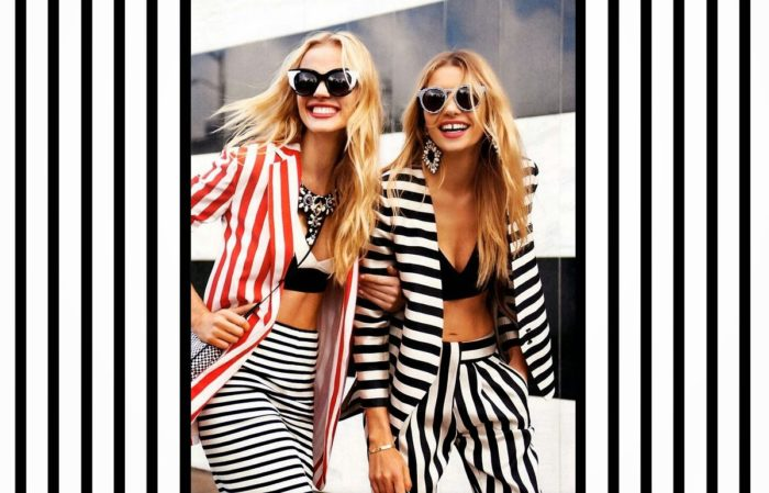 принт полоска 2018 - модный тренд