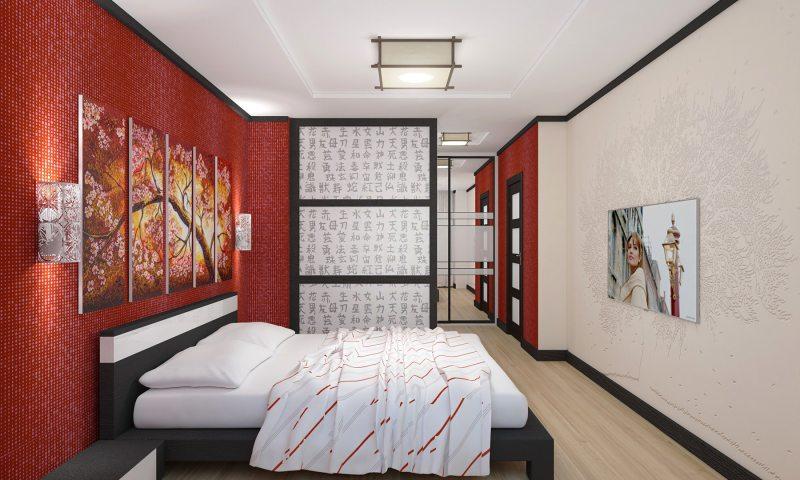 квартира в японском стиле, дизайн на фото 2