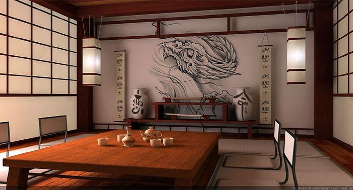 квартира в японском стиле, дизайн на фото 4