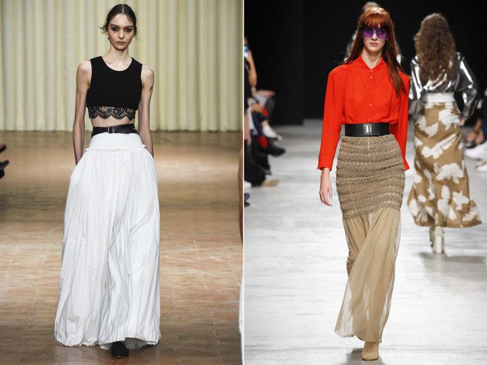 модные тенденции и тренды на юбки сезона весна-лето 2018, фото