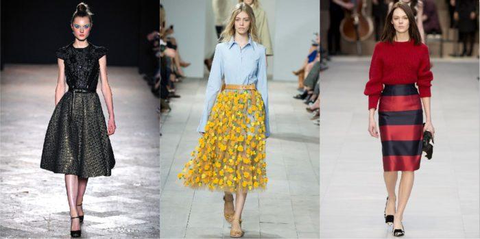 модные юбки весна-лето 2018, цветовая гамма на фото 1