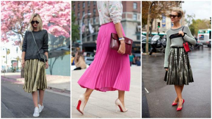 модные юбки весна-лето 2018, цветовая гамма на фото 2