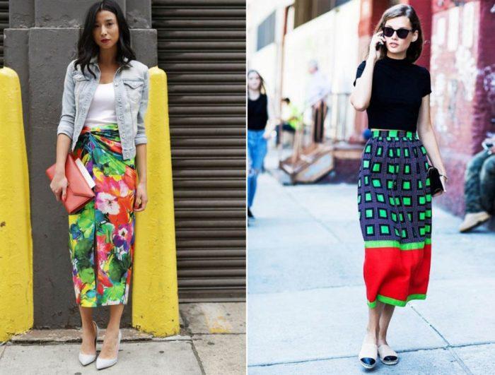 модные юбки весна-лето 2018, цветовая гамма на фото 3
