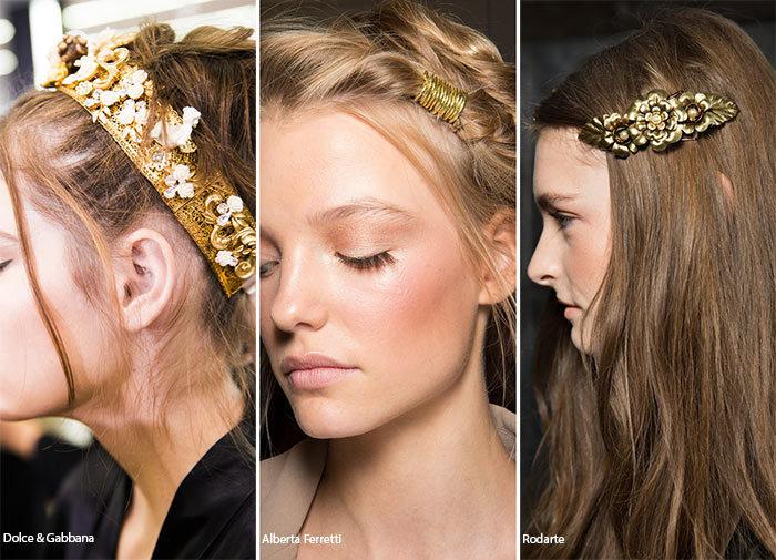 аксессуары для волос весна-лето 2018, модные и красивые варианты на фото 4