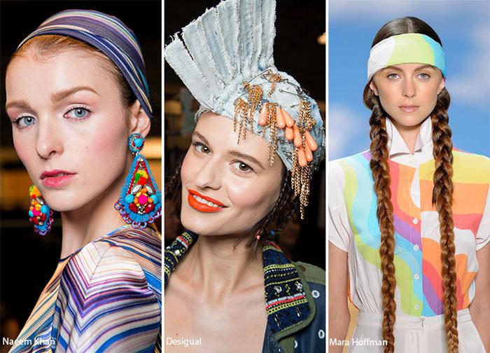 аксессуары для волос весна-лето 2018, модные и красивые варианты на фото 6