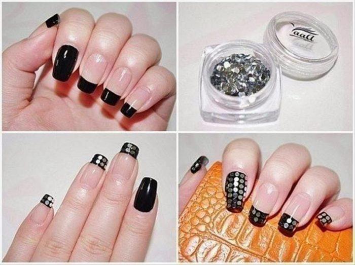 модный маникюр 2018 в домашних условиях на короткие ногти, пошагово на фото 1