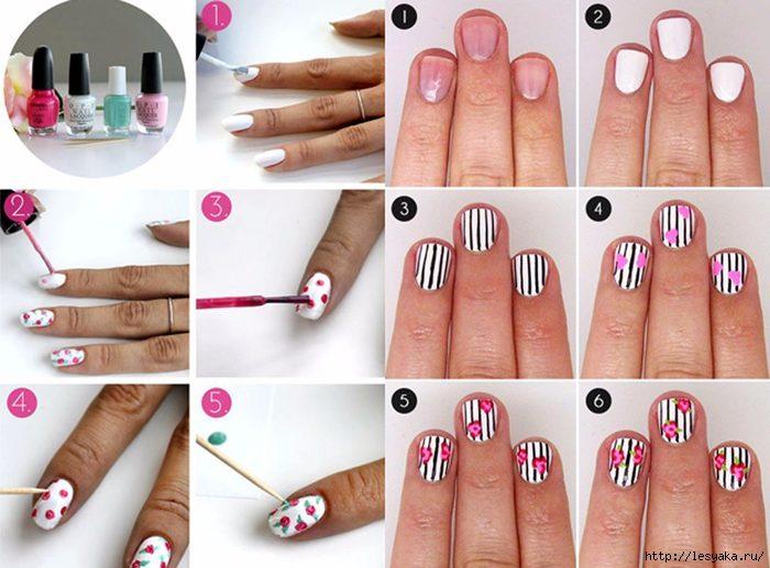 модный маникюр 2018 в домашних условиях на короткие ногти, пошагово на фото 3