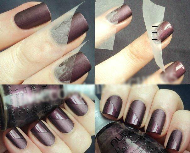 модный маникюр 2018 в домашних условиях на короткие ногти, пошагово на фото 4