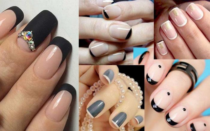 модный и красивый маникюр на короткие ногти 2018, фото новинки 9