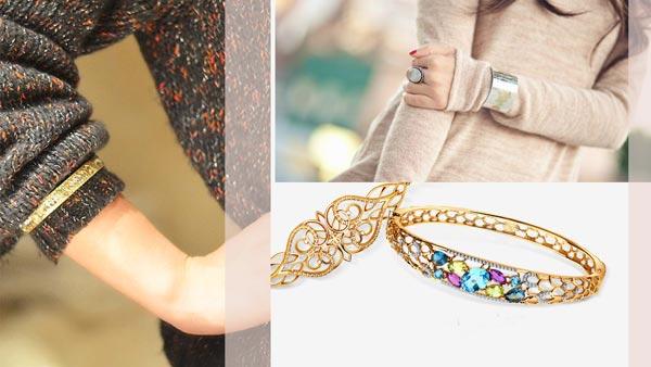 золотые браслеты, модные тенденции и тренды 2018 фото 3