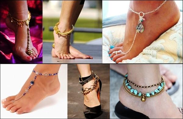модные браслеты на ногу 2018 фото 3