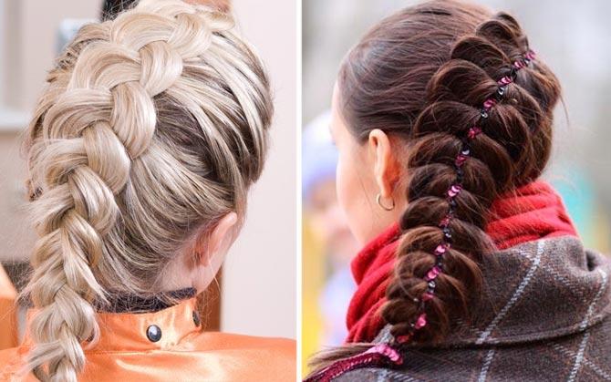 французская коса фото 3