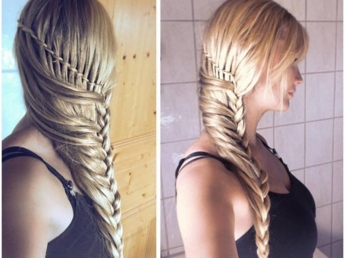 коса на бок фото 3