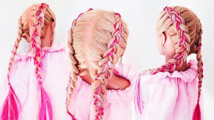 самые модные и красивые косы 2018, идеи и новинки на длинные и средние волосы фото 5