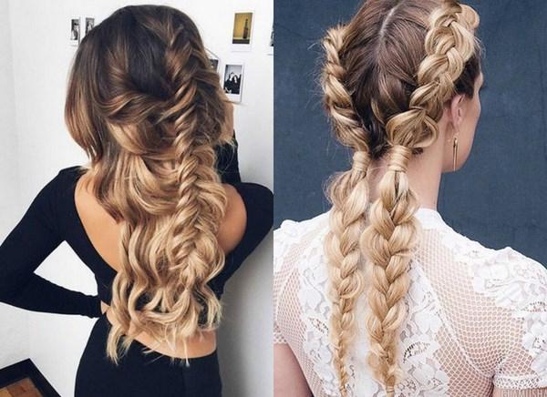 самые модные и красивые косы 2018, идеи и новинки на длинные и средние волосы фото 6