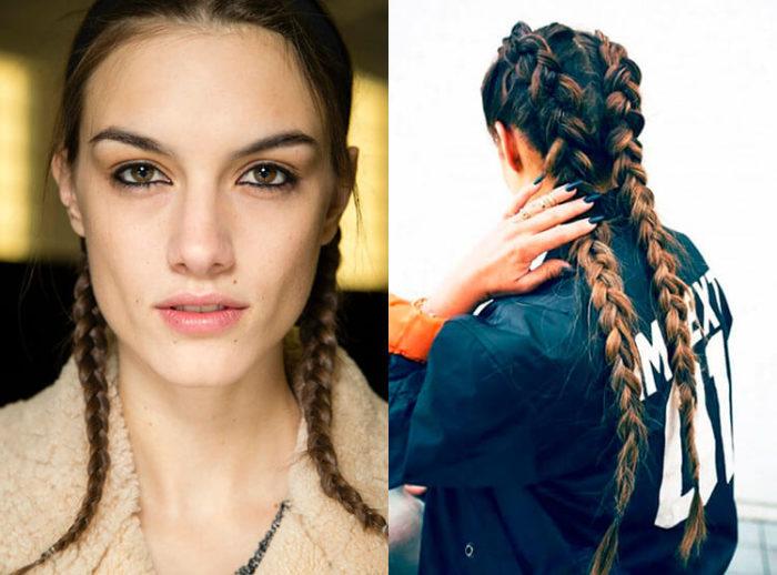 самые модные и красивые косы 2018, идеи и новинки на длинные и средние волосы фото 8