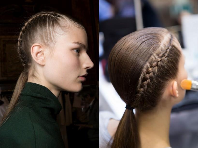 Прическа с модными косами