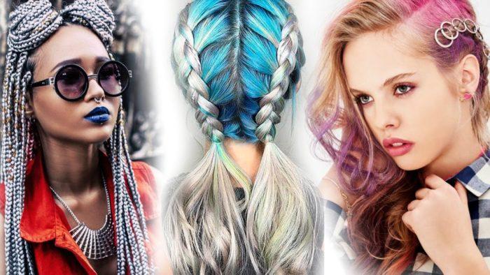 самые модные и красивые косы 2018, идеи и новинки на длинные и средние волосы фото 12