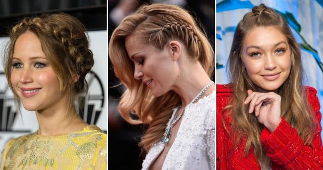 самые модные и красивые косы 2018, идеи и новинки на длинные и средние волосы фото 13