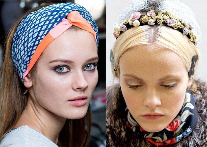 модные ободки для волос с цветами (живыми и искусственными) 2018, тенденции и тренды на фото 2