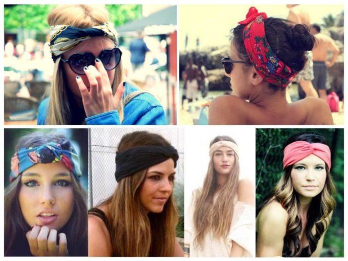 модные повязки для волос 2018, тенденции и тренды на фото 1