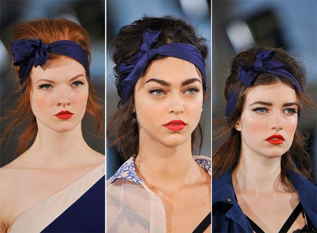 модные повязки для волос 2018, тенденции и тренды на фото 2