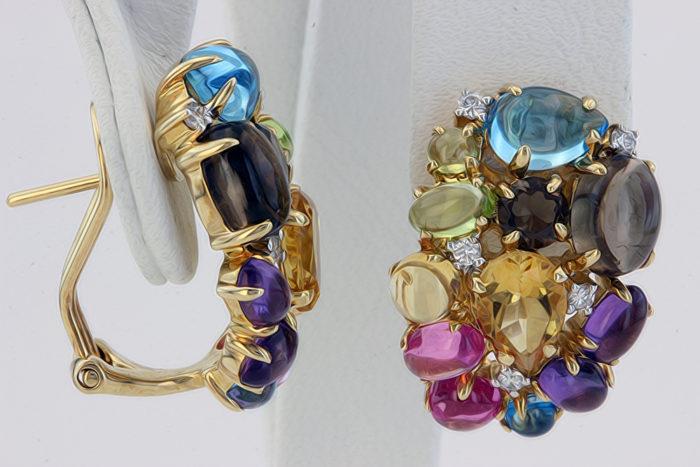 серьги с драгоценными камнями фото 2