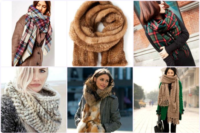 модные шарфы весна 2018 на фото