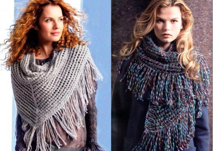 шарфы с бахромой фото 2