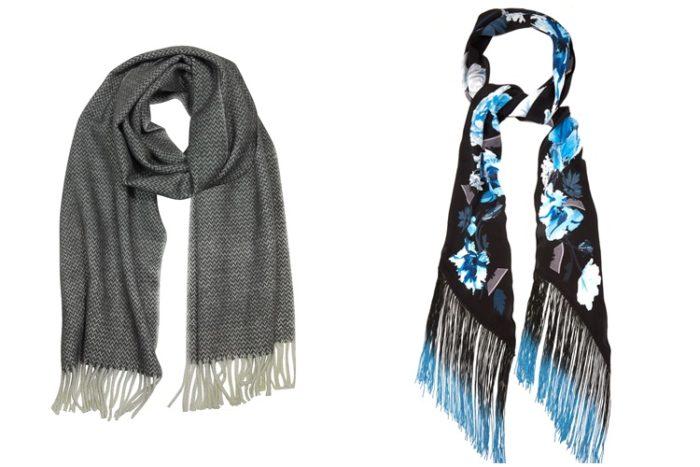 шарфы с бахромой фото 3