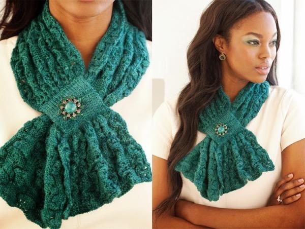 вязаные шарфы фото 2