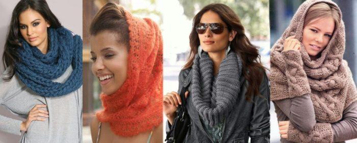вязаные шарфы фото 3