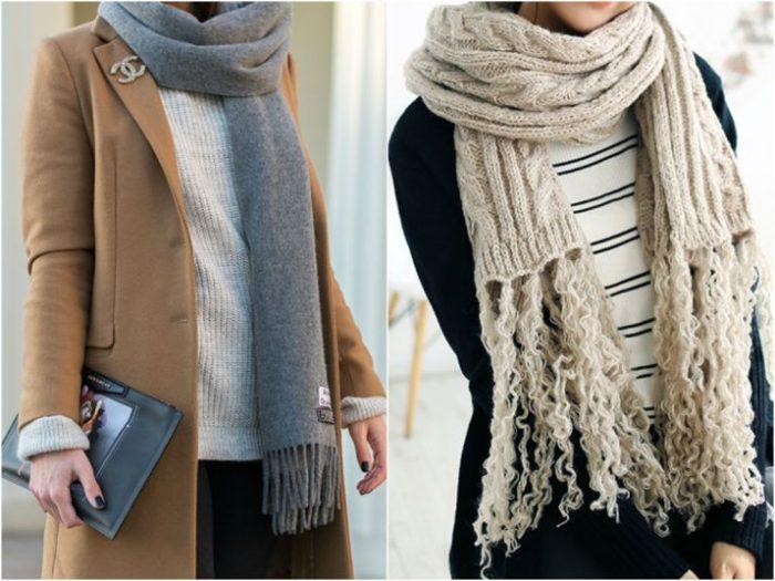 модные и красивые шарфы весна 2018 фото 4