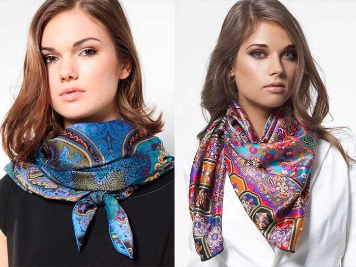 модные и красивые шарфы весна 2018 фото 5