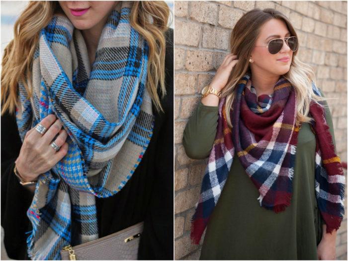 модные и красивые шарфы весна 2018 фото 7