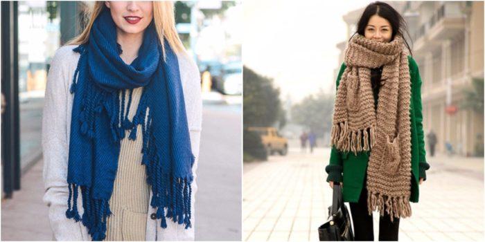 шарфы с бахромой фото 1