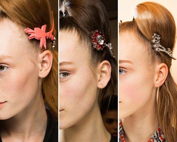 модные заколки для волос 2018, идеи на фото 4