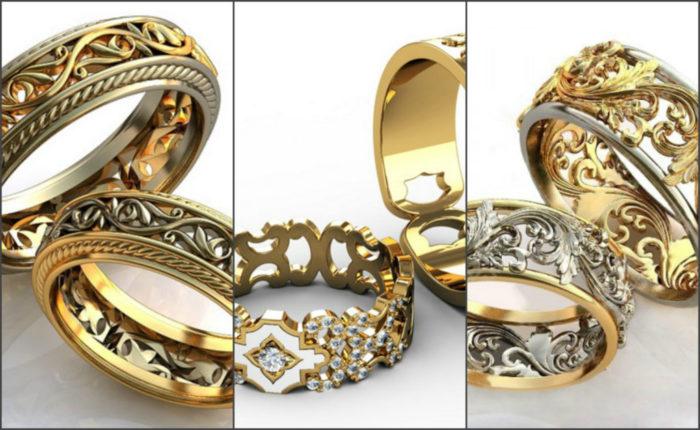 дизайнерские обручальные кольца 2018, свадебные новинки на фото 2