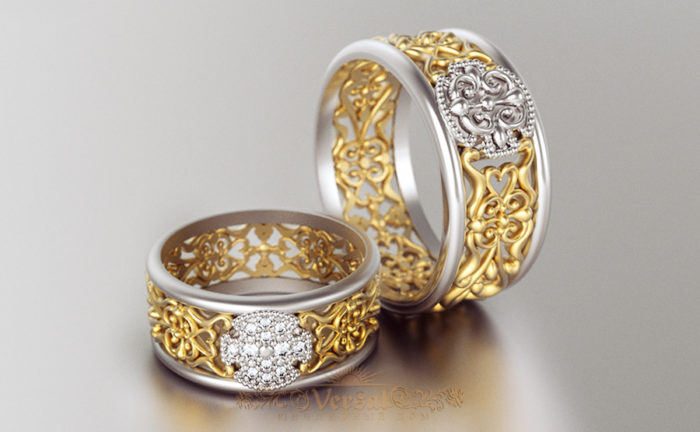 дизайнерские обручальные кольца 2018, свадебные новинки на фото 3