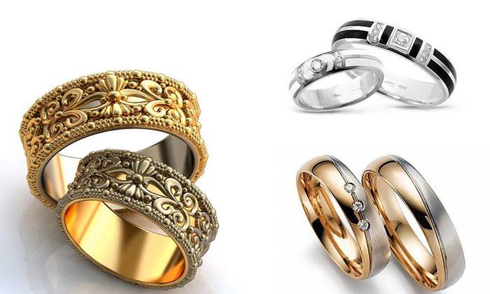 дизайнерские обручальные кольца 2018, свадебные новинки на фото 4