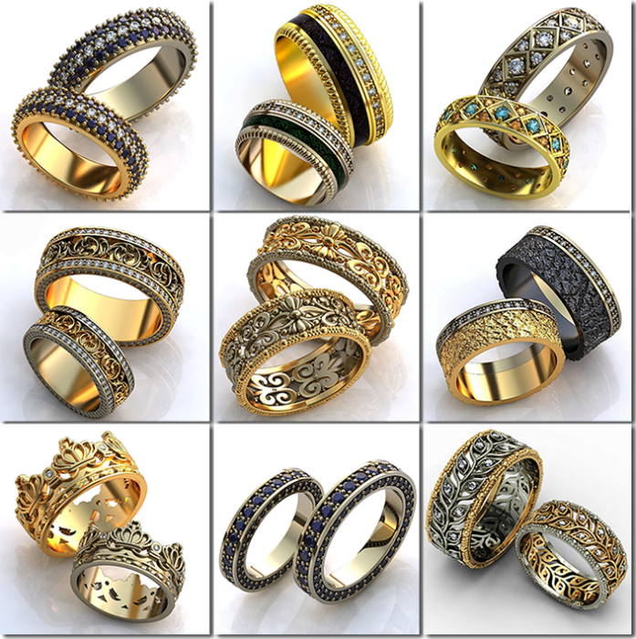 винтажные обручальные кольца 2018, фото новинки 6