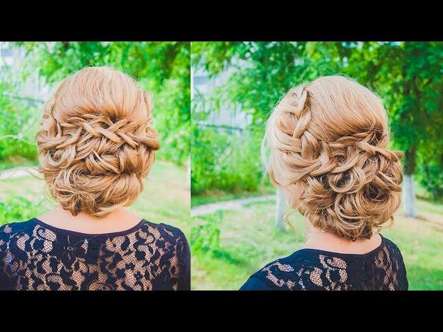 пучок на основе плетений и кос фото 3
