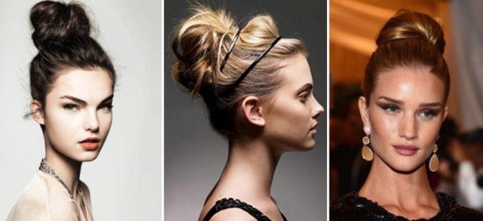 модный пучок 2018 из волос своими руками: фото варианты и идеи 1
