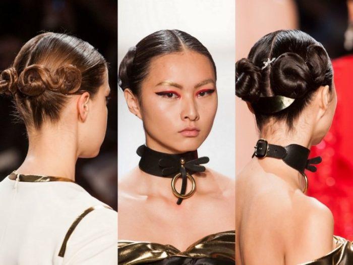 модный пучок из волос 2018 на фото 1