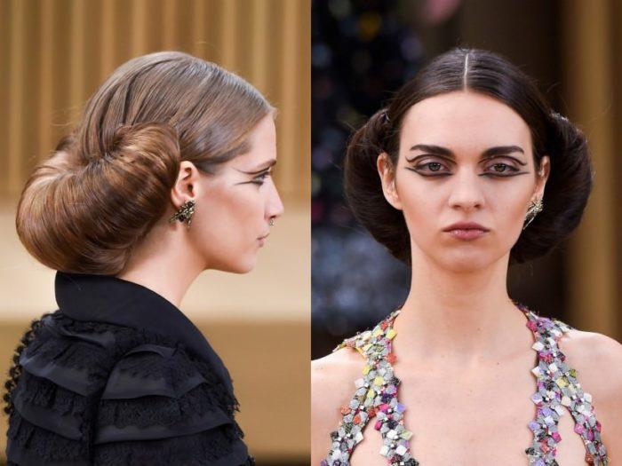 модный пучок из волос 2018 на фото 6