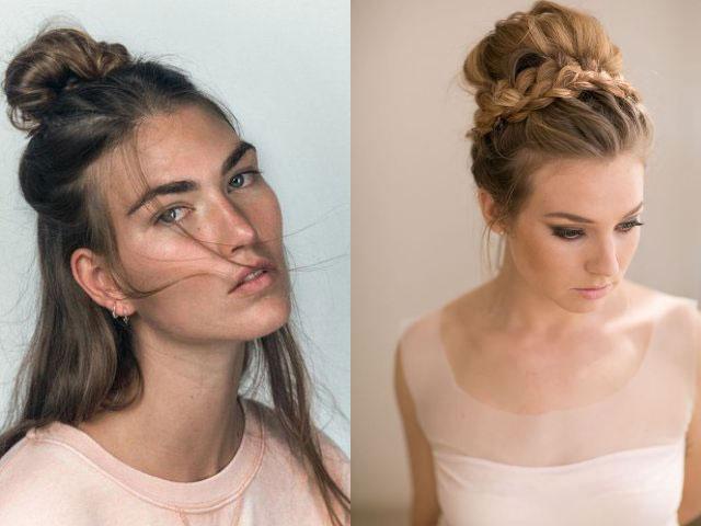 модный пучок 2018 из волос своими руками: фото варианты и идеи 2