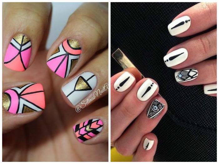 геометрия на ногтях фото 2